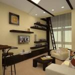 Дизайн квартиры студии: примеры интерьера