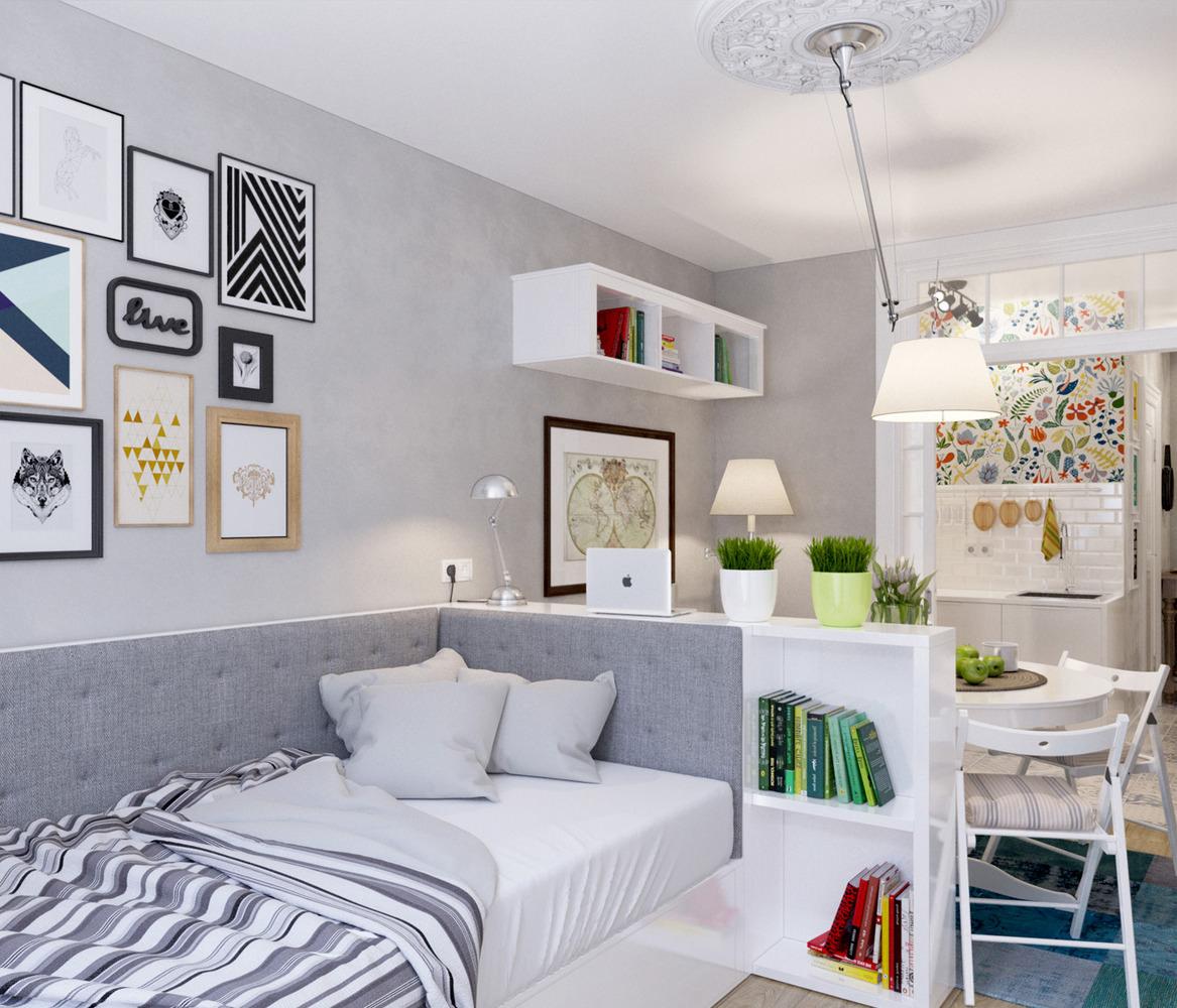 Дизайн маленькой квартиры студии 25 кв.м фото