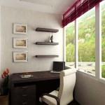 Дизайн лоджии-кабинета