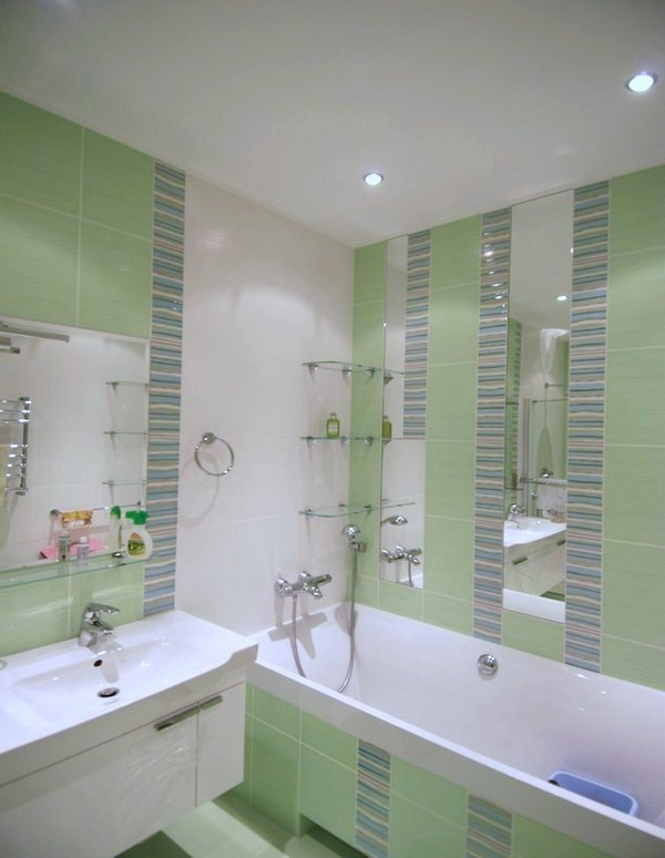 Интерьеры малогабаритных ванных комнат