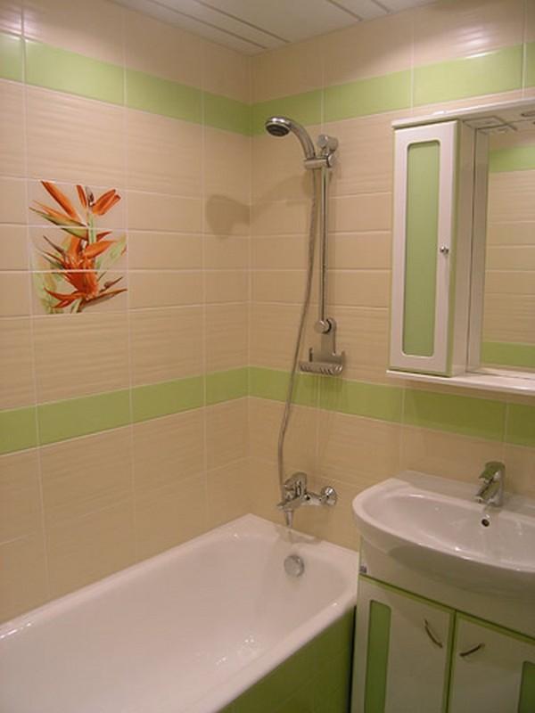 Дизайн в ванной маленькой квартире