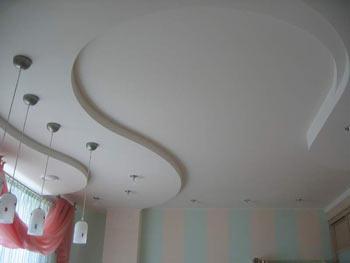 Дизайн натяжних стель в спальні