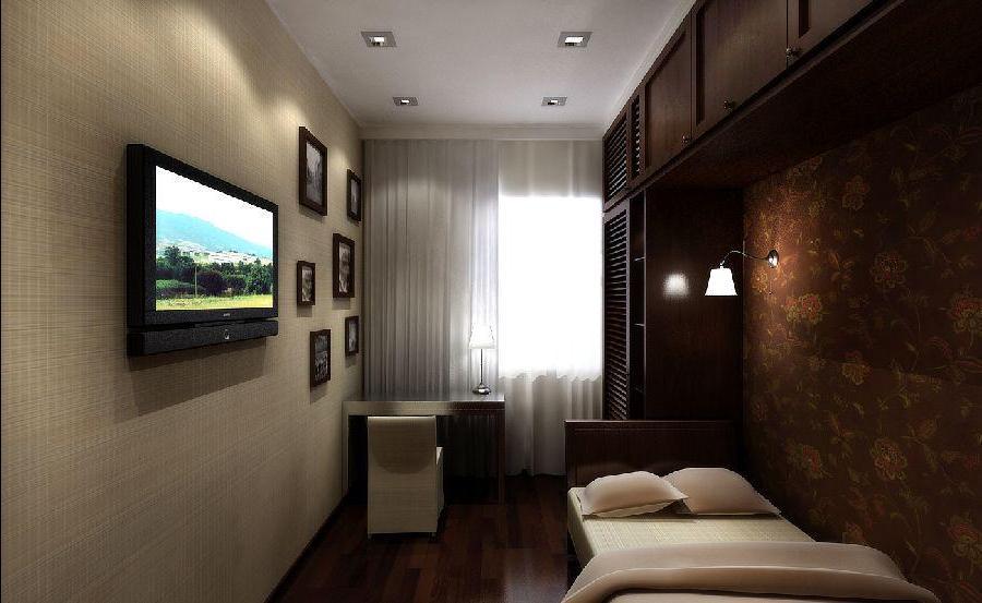 Интерьер маленькой спальни гостиной