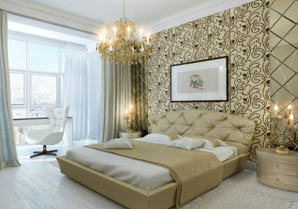 Современный дизайн обоев для спальни