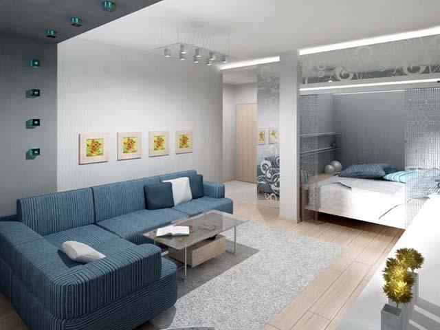 Дизайн комнаты 18 кв.м с нишей
