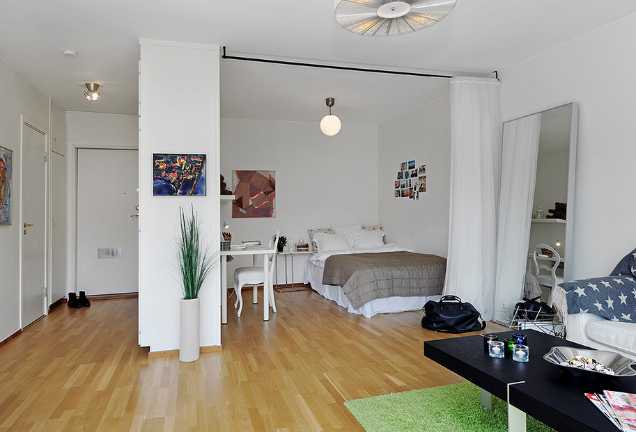 Однокомнатные квартиры дизайн интерьера с нишей
