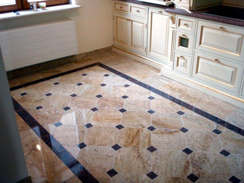 Дизайн плитки для пола в кухне