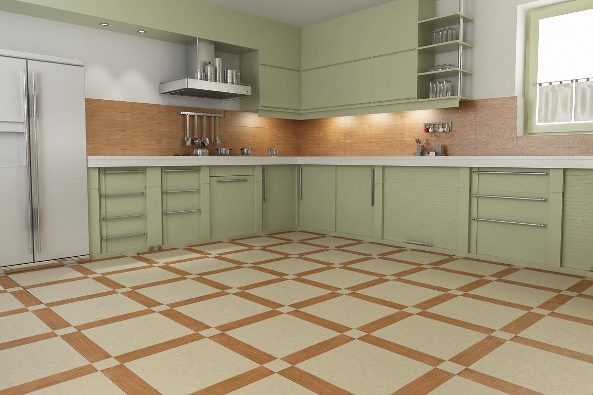 Интерьер кухни полы фото