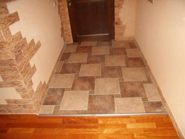 Дизайн прихожей полы с плиткой керамической