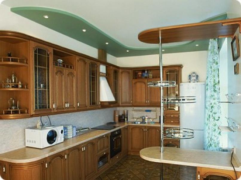 Кухни из гипсокартона в зал своими руками