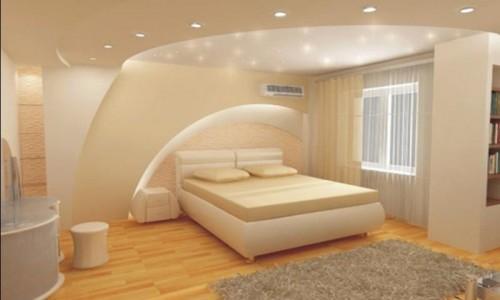 Дизайн потолков из гипсокартона спальня