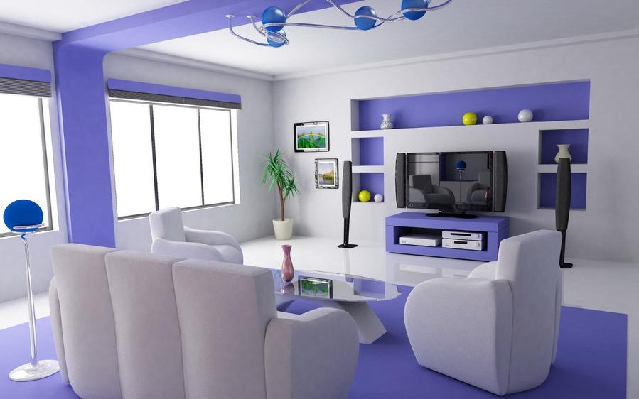 Дизайн проект гостиной с эркером