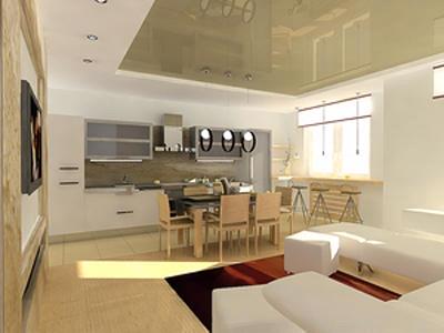 Гостиная, совмещенная с кухней: фото планировок, варианты