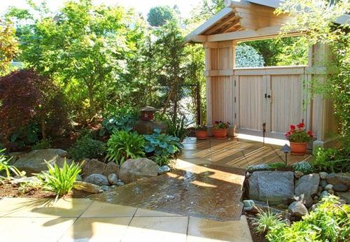 Дизайн место для отдыха в саду