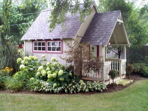 Дизайн садового будиночка вибираємо