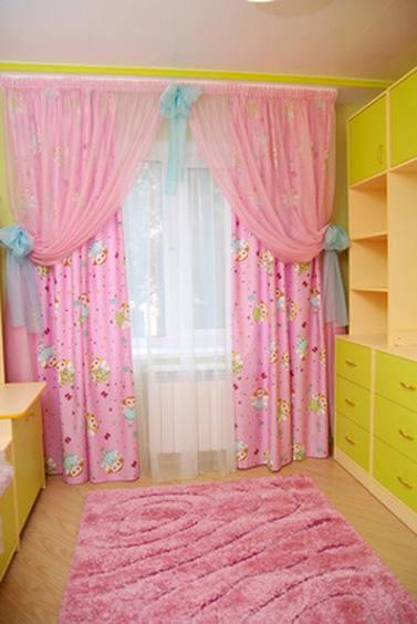 Дизайн штор с для детской