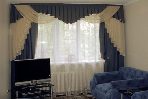 фото интерьер штор для зала