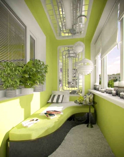 Дизайн штор для лоджии