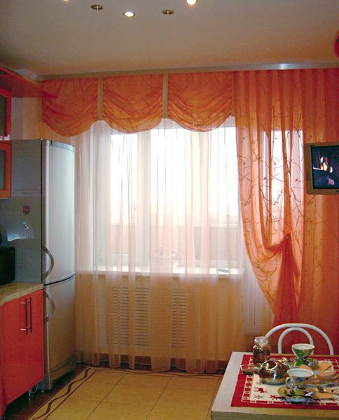 Шторы для маленькой кухни (42 фото видео-инструкция по) 82