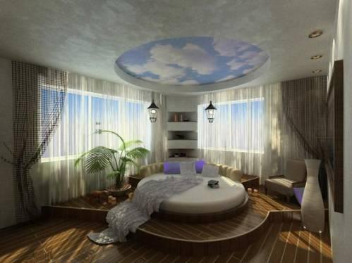 Дизайн спальни фото с диваном