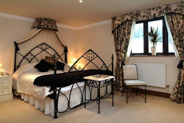 дизайн спальни с перегородкой