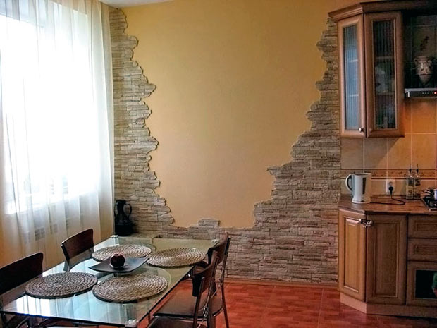 Камень для стен дизайн фото