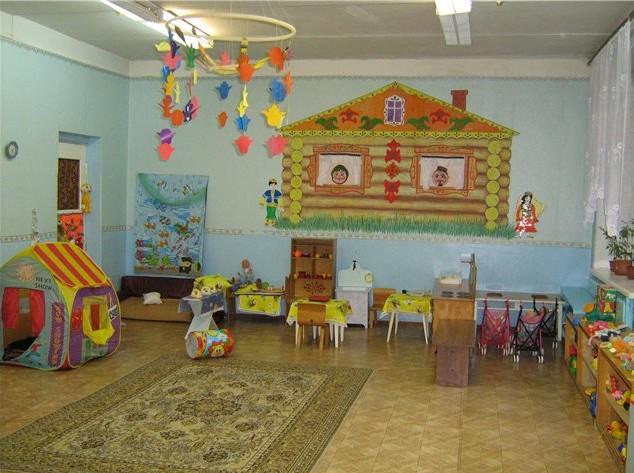 дизайн стен в детском саду