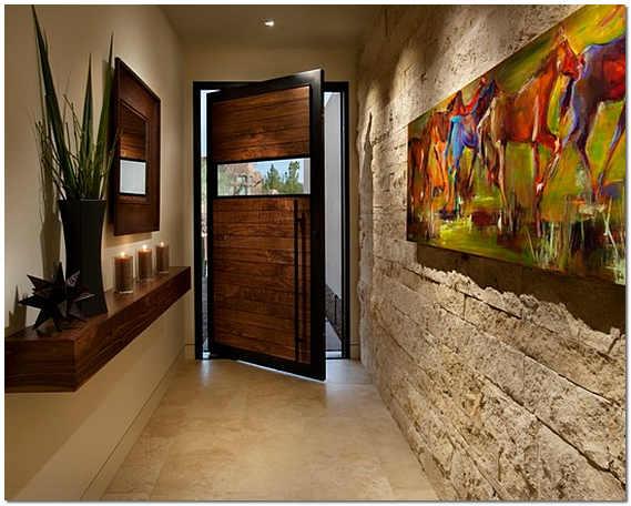 Стены в коридоре своими руками