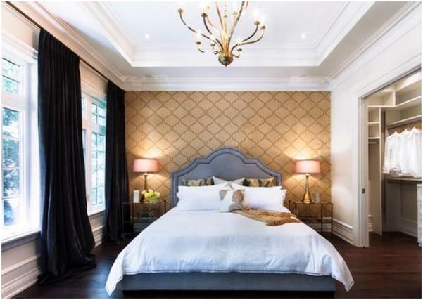 Стены в спальне дизайн
