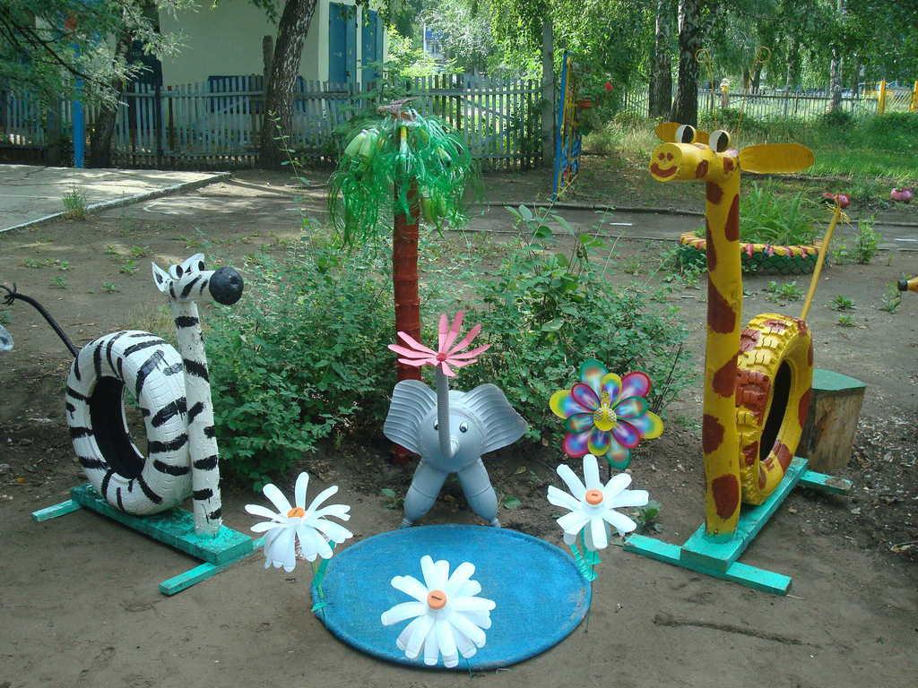 Оформление участок детского сада своими руками фото