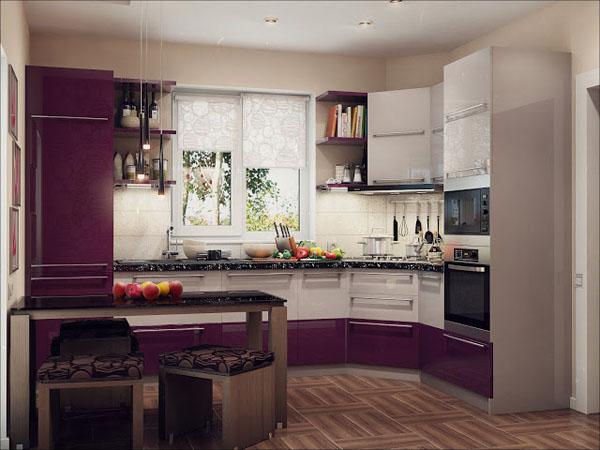 Дизайн интерьер угловой кухни фото