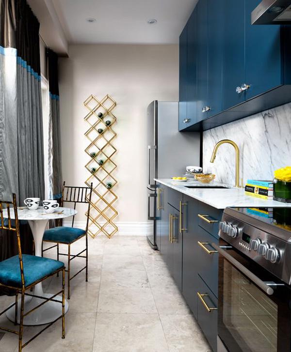 узкая маленькая кухня дизайн фото