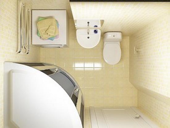 Дизайн ванной комнаты маленькой