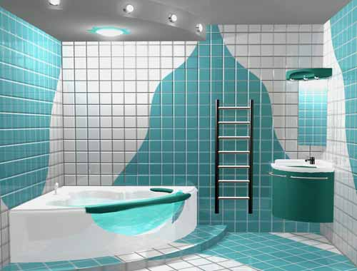 Простой дизайн ванной комнаты в