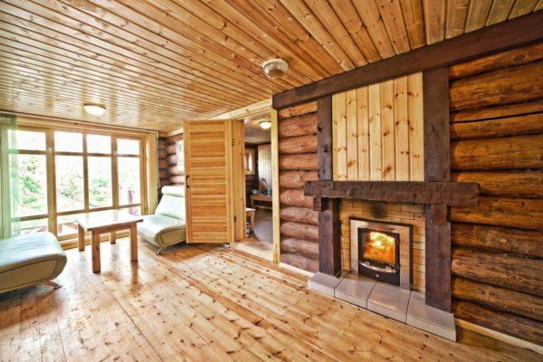 Дизайн сауны и комнаты отдыха предполагает максимальное использование природных материалов