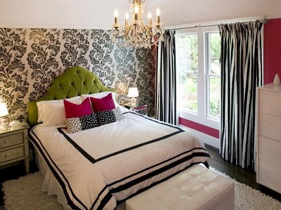 Дизайн штор для спальни должен находиться в гармонии с отделкой