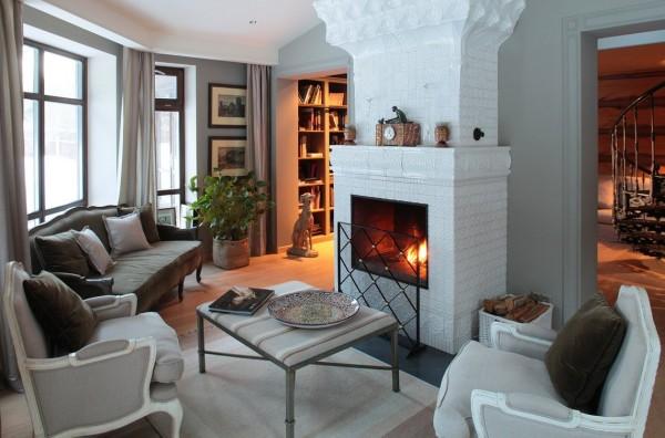 Дизайнерские решения для гостиной в духе русской аристократии