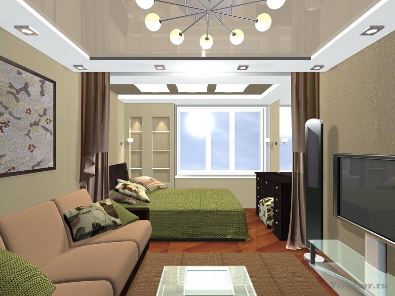 Дизайн спальни гостиной дизайн