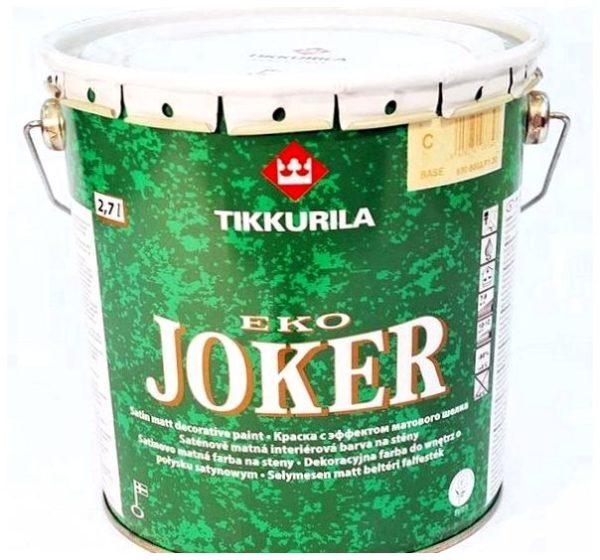 Экологичная интерьерная акрилатная краска от Tikkurillа — Эко Джокер