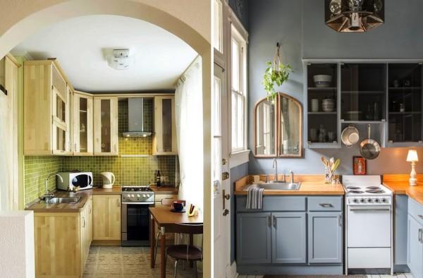 Еще несколько удачных вариантов небольших кухонь, которые запросто можно реализовать в хрущевке