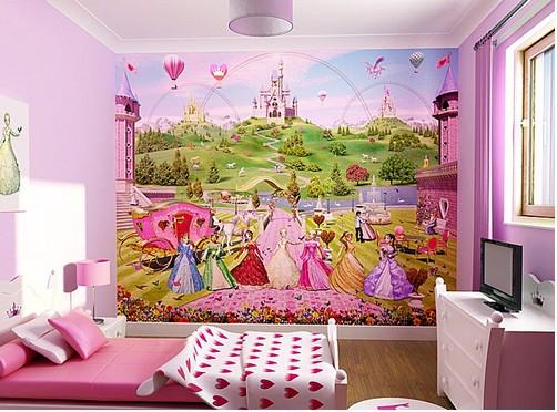 Фотообои со сказочными персонажами в детской