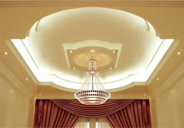 Гипоскартон позволяет сделать потолок уникальным