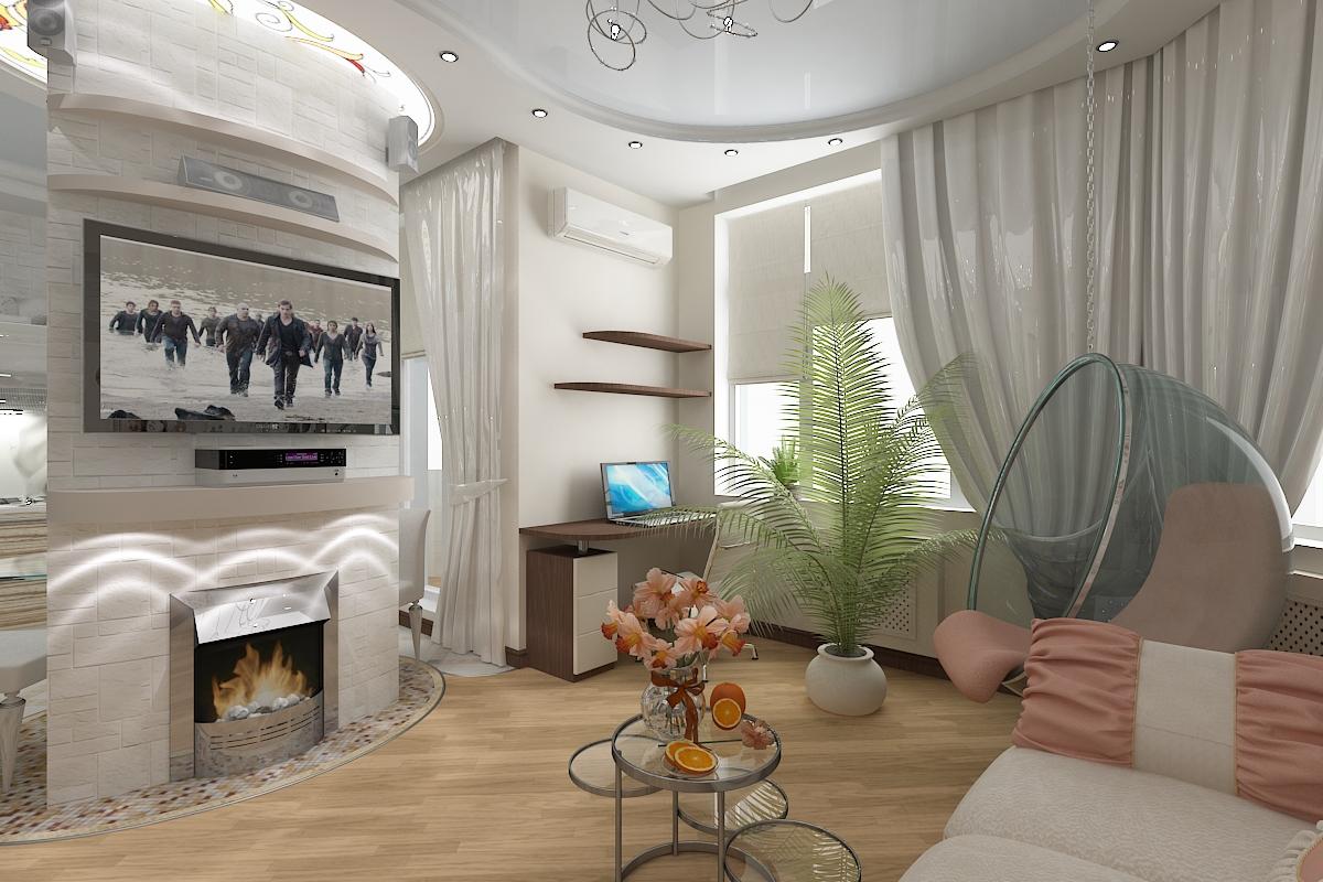 Акценты в дизайне гостиной
