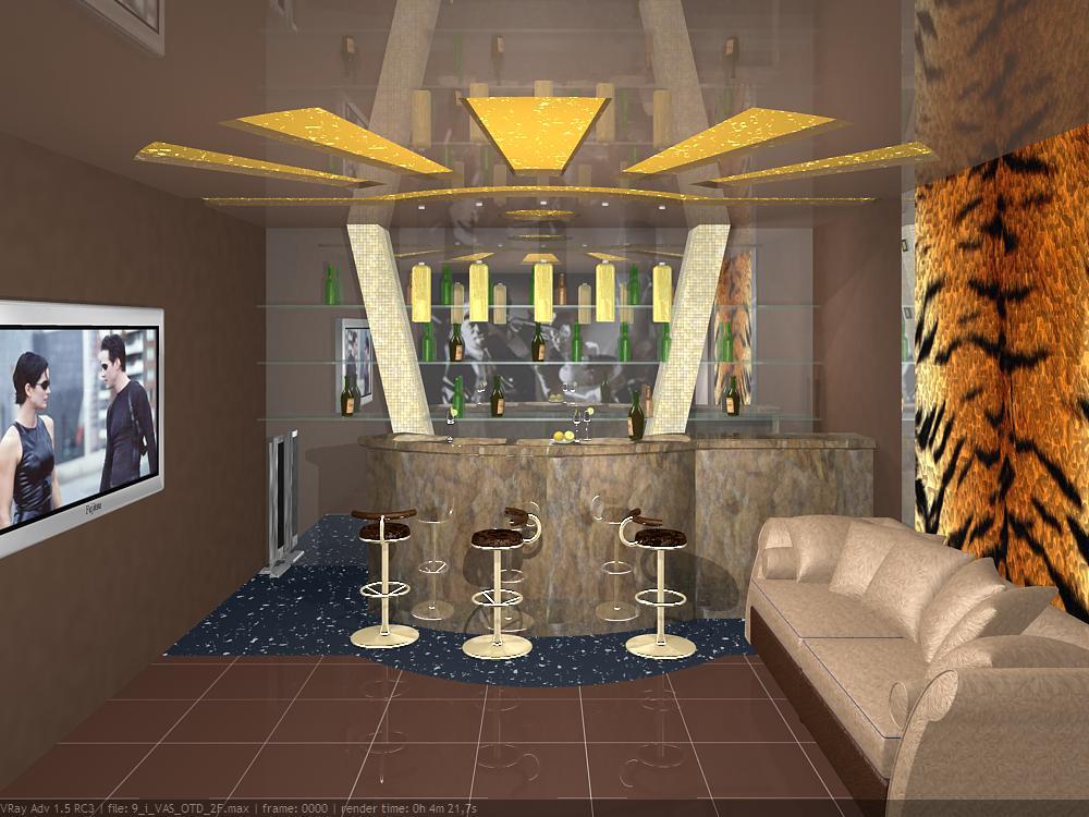 Интерьер гостиной комнаты в квартире