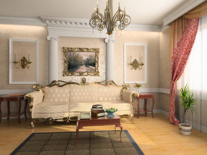 Ремонт в гостиной создает в сознании