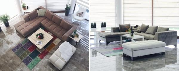 Интерьер гостиной в стиле модерн со скандинавским колоритом
