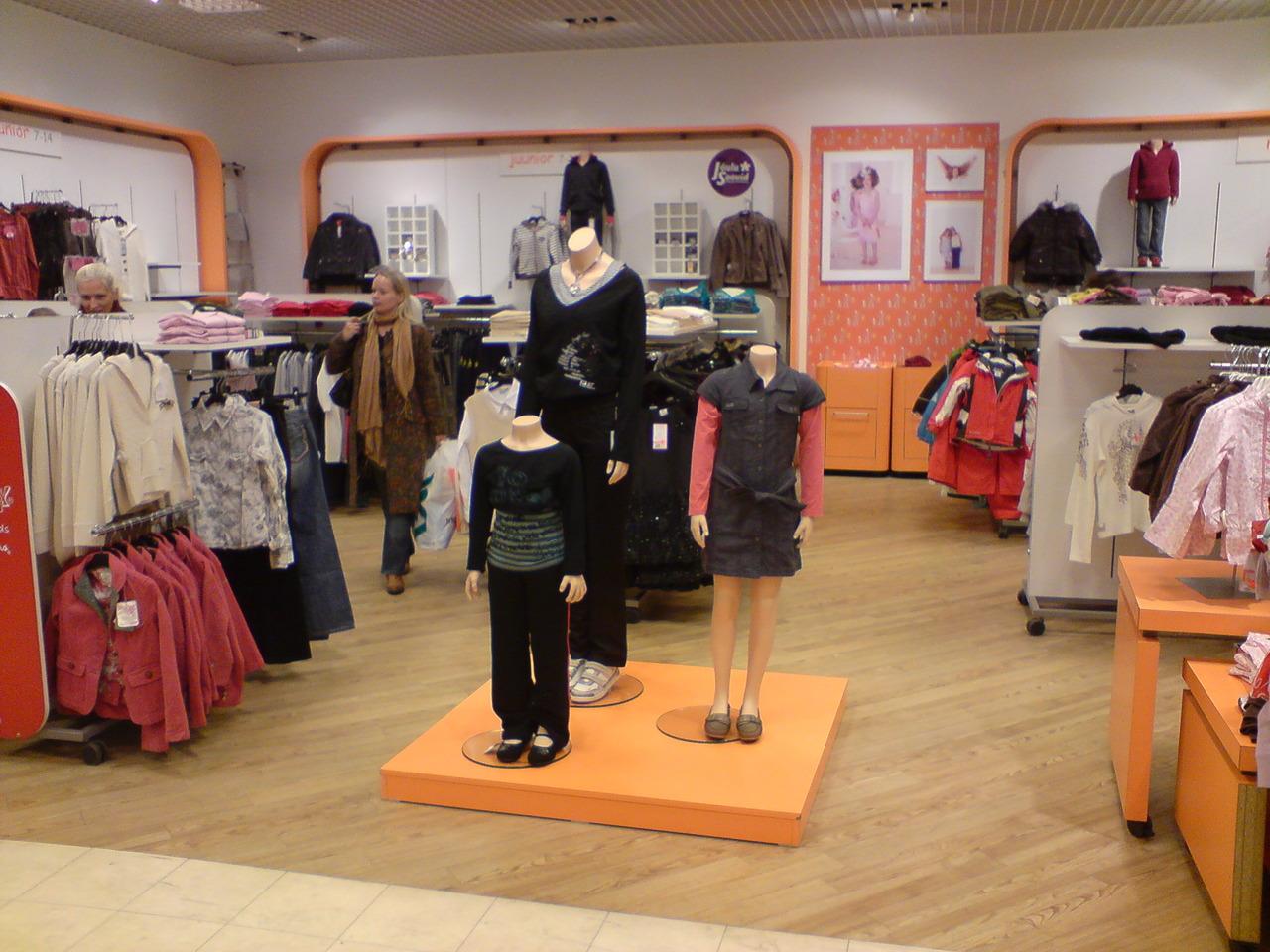 Пример магазина одежды для детей