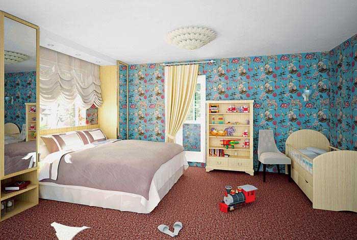 Интерьер спальни детской