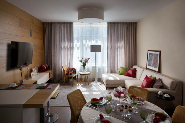 Интерьеры квартир в стиле модерн с подчеркнутой лаконичностью