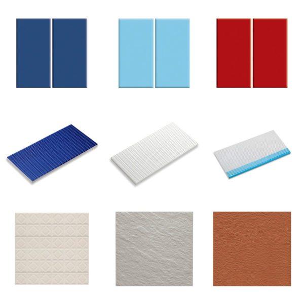 Из всех видов керамической плитки для отделки бассейна больше всего подходит фарфоровая.
